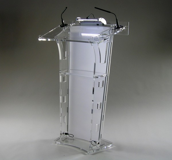 Hot Selling Acrylic Desktop Lectern / Acrylic Church Podiums / Acrylic Pulpit