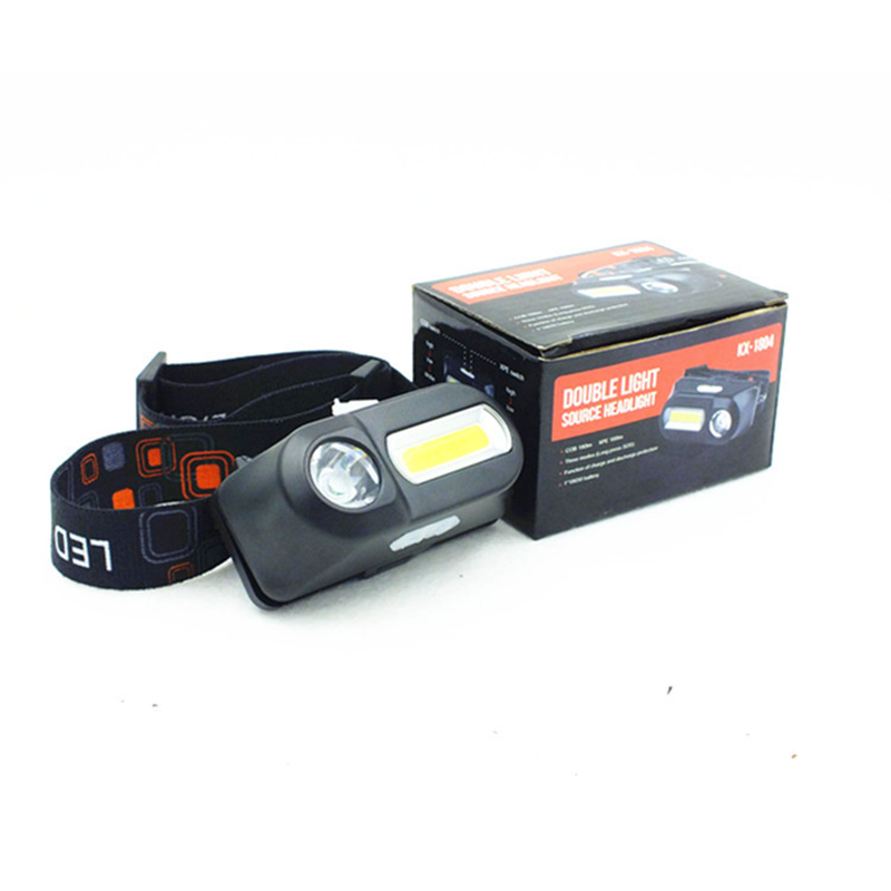 USB Rechargeable Headlight Q5+COB Headlamp Portable 6 Modes Nightlight Camping Outdoor 18650 Battery LED Torch Flashlight