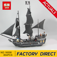 Lepin 16006 804pcs Pirates Of The Caribbean Black Pearl Dead Ship Model Builidng Blocks Children Toys