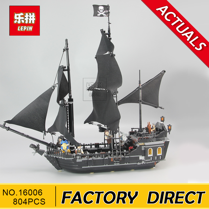Lepin 16006 804pcs Pirates of the Caribbean Black Pearl Dead Ship model Builidng Blocks Children toys Bricks CompatibleLeg waz compatible legoe pirates of the caribbean 4184 lepin 16006 804pcs the black pearl building blocks bricks toys for children