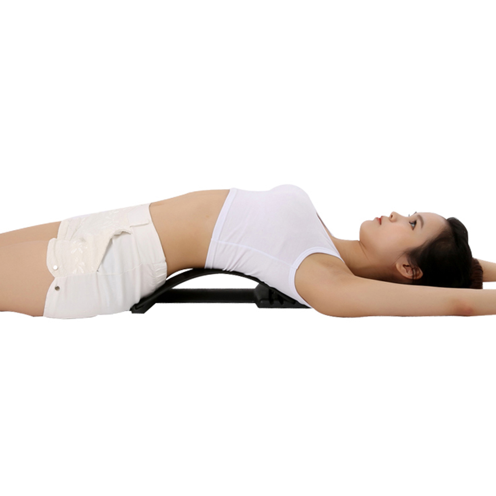 Back Massage Stretching Magic Back Neck Traction Stretcher Waist Relax Lumbar Support Spine Pain Relief Chiropractic Equipment manual inflatable spine pain relief back massage cushion lumbar traction stretching device waist spine relax health care