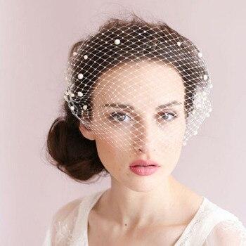 En Stock 2018 nueva moda nupcial neto sombreros sombrero blanco velo de  novia flor arco novia boda velos de novia e317e375dc9