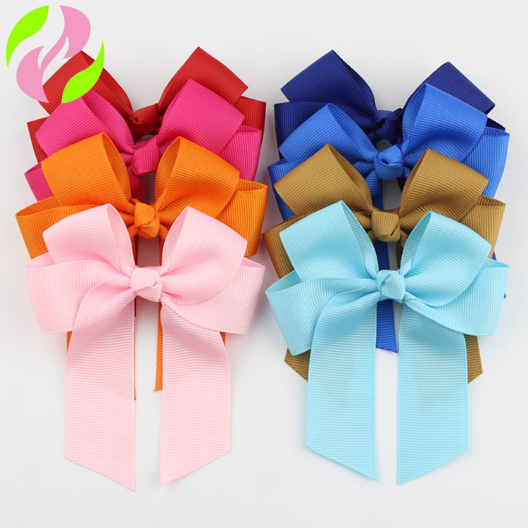 20 Color Cute Kids Baby Newborn Girls Bow Hair Clips Headwear Ribbon Clip Bowknot Hair Accessories Photography Props Pink