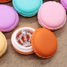 6pieces/lot portable candy color Mini Macarons gift package box Portable storage box for Small items lovely jewelry package case(China)