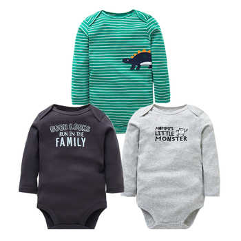 Newborn Baby Clothes 3PCS/Lot Baby Rompers Long Sleeve 100% Cotton Baby Boy Clothes Infant High Quality Baby Jumpsuit 0-24 month - DISCOUNT ITEM  46% OFF All Category