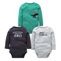 2ee55dcb08 Newborn Baby Clothes 3PCS Lot Baby Rompers Long Sleeve 100 Cotton Baby Boy  Clothes Infant High. Ropa de bebé recién nacido ...