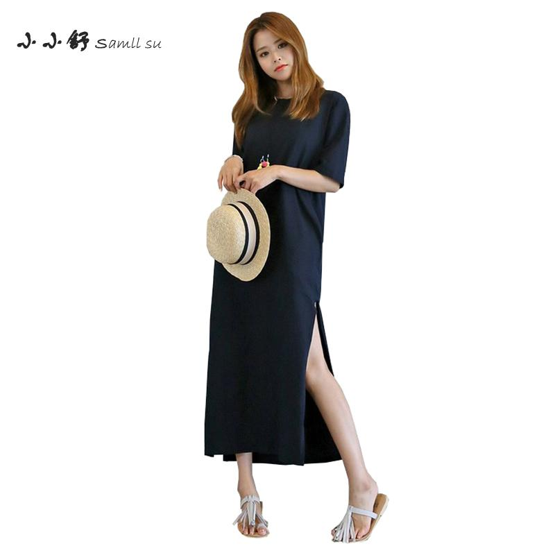 Small Su 2017 Summer Women Red Blue Dresses Oneck Knitted Tshirt Maxi Long Cutouts Sundress Bandage Party Vestidos De Fest Mujer