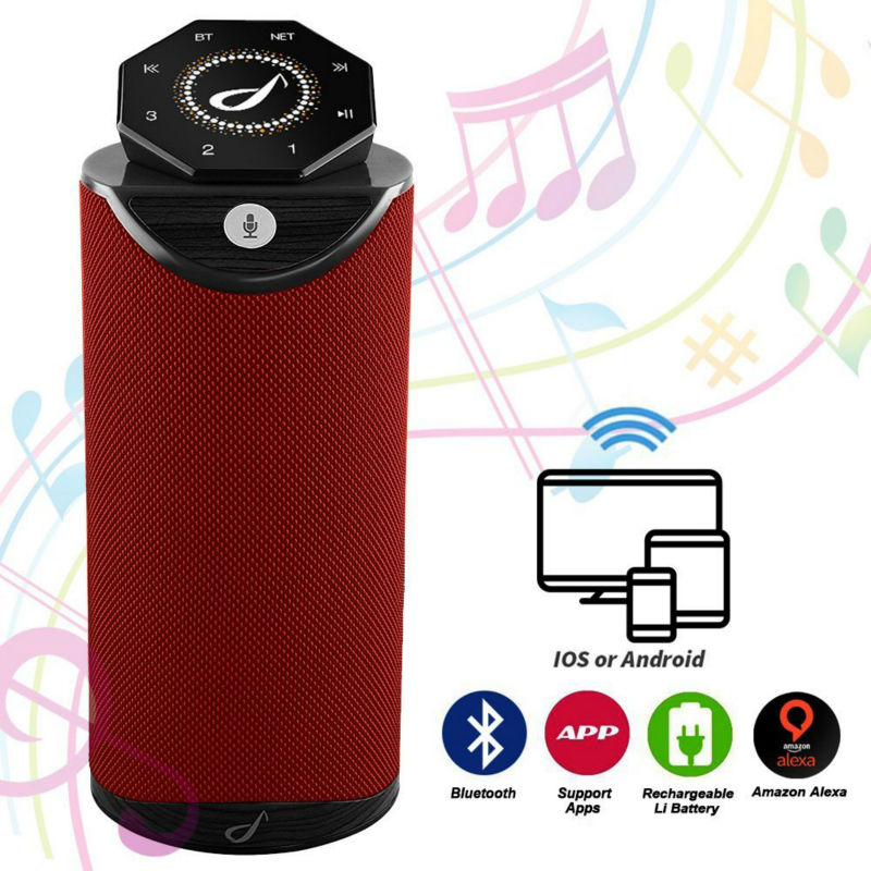 Sunnylink 20W RMS Portable Smart WiFi Wireless speaker with Amazon Alexa Multi room Streaming Play WiFi
