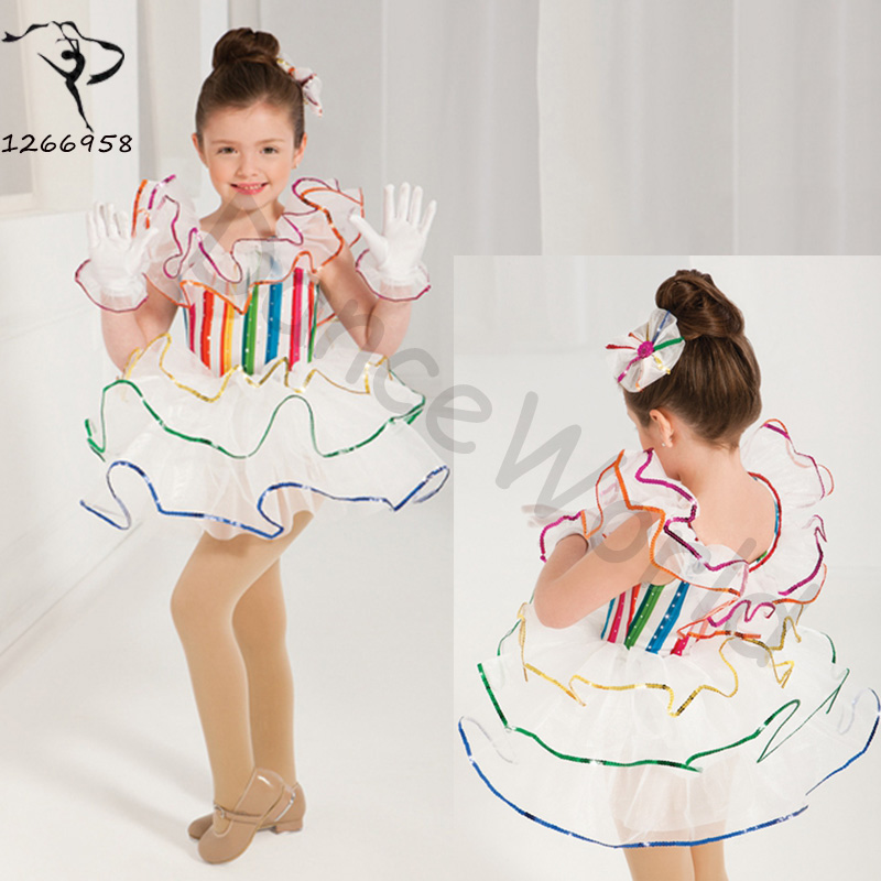 Energetic 2018 Foreign Trade Girls Lovely Princess Dress Perform Ballet Veil Cake Bitter Fleabane Stage Costumes For Girl 85cm-140cm To Ensure A Like-New Appearance Indefinably Stage & Dance Wear