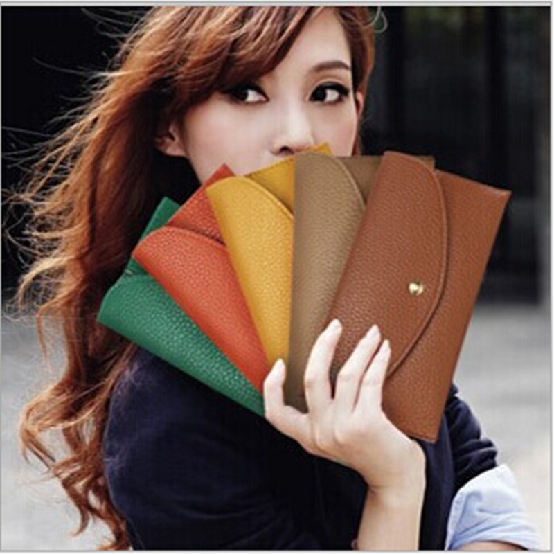 ON SALE! 2017 New Women Fashion Cansual Pu Leather Bag Girls Long Wallet Ladys Multifunctin Handbag and Purse Simple style