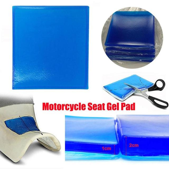 Vodool Motorcycle Seat Gel Pad Shock Absorption Mat Comfortable Soft Cover Blue Mat Shock Motorcycle Seat Cushion Pads 3 Sizes