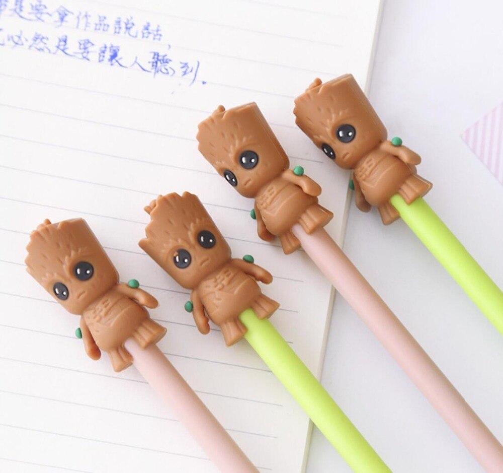 2 Pcs/lot Cartoon Grutt Marvel Characters Gel Pen Signature Pen Escolar Papelaria School Office Supply Promotional Gift