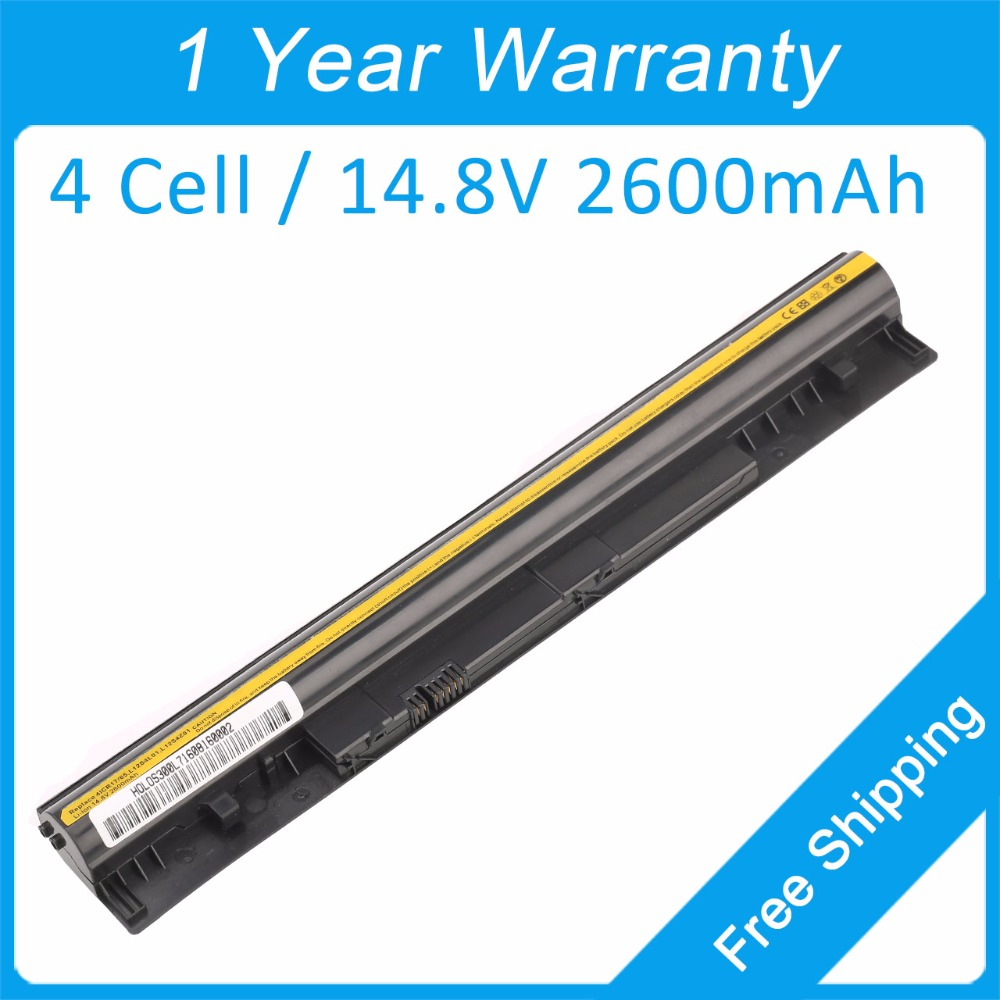 4 cell 2600mah laptop battery for lenovo IdeaPad S300 S310 S400 S400u S405 S410 S415 4ICR17/65 L12S4L01 L12S4Z01