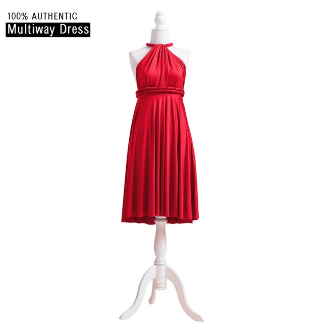 5ffdbb91e28 Red Bridesmaid Dress Infinity Dress Ruby Short Convertible Dress Plus MultiWay  Wrap Dress With Halter Straps Styles