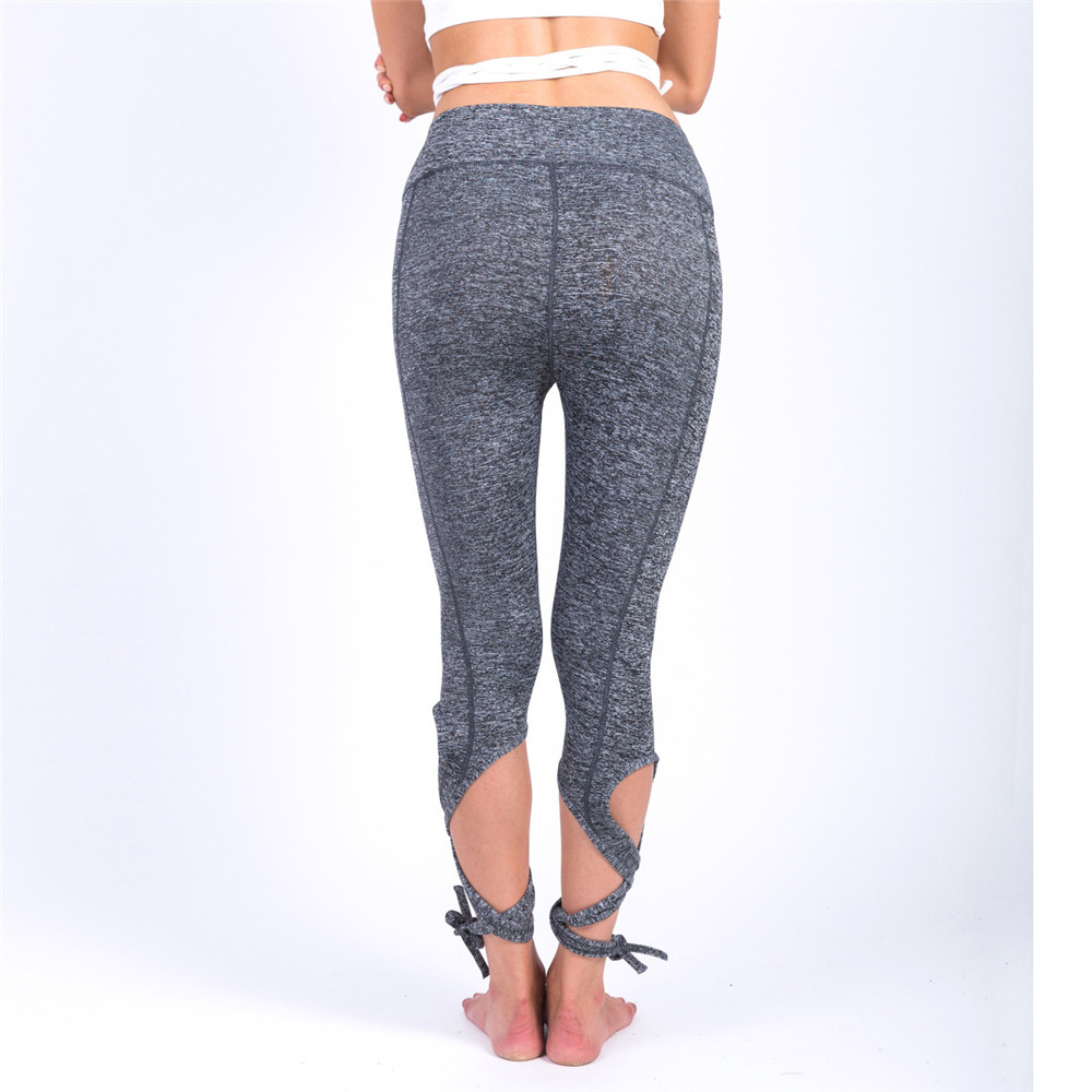 Pure color Winding type Bandage Hip lifting Comfortable leggins pants workout leggings women shein joggers women fitness legging in Leggings from Women 39 s Clothing