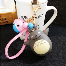 Fashion Cartoon Animal Vinyl doll KeyChain Car Key Chain Leather Rope Llavero Alloy Bells Keyring for Women Charm bag Porte Clef