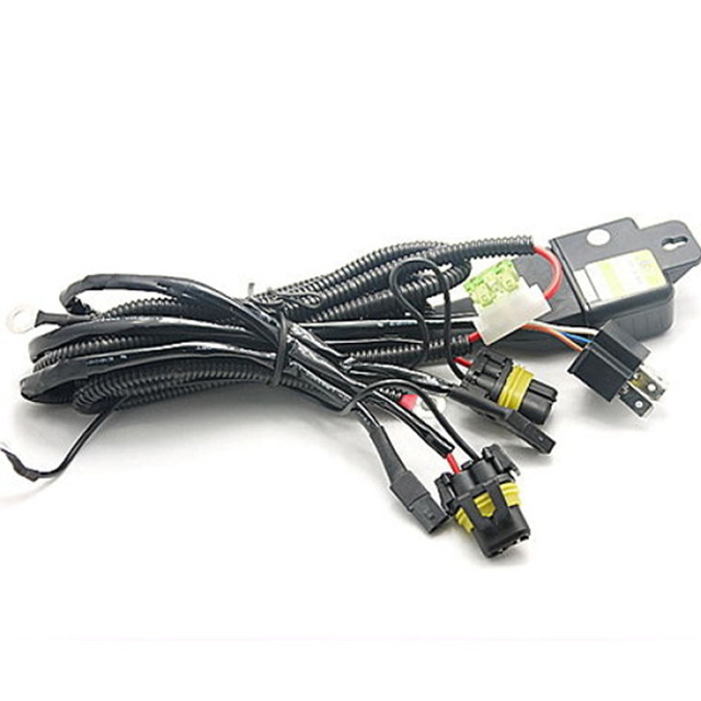 Car HID Bi xenon H4 H4 3 Hi Lo Controller Fuse Relay Cables Wire Wiring Harness_640x640 car hid bi xenon h4 h4 3 hi lo controller fuse relay cables wire Custom Auto Wire Harness H4 at aneh.co