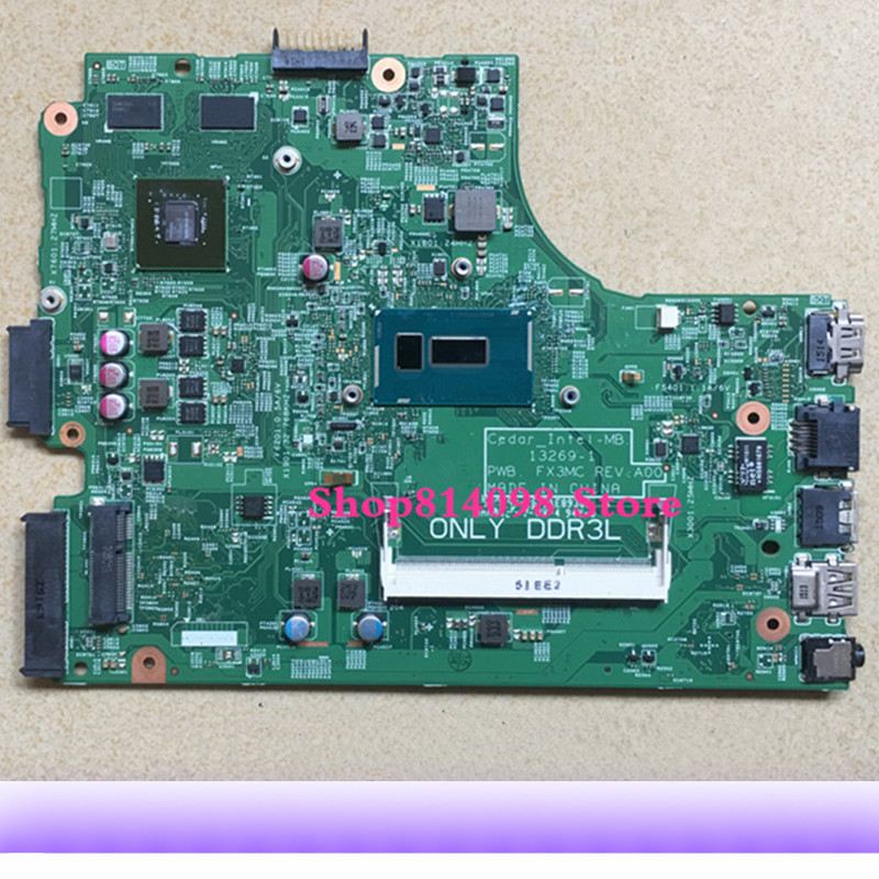 KEFU CN 064HF9 FIT FOR Dell Inspiron 15 3442 3443 3542 3543 5748 5749 Laptop Motherboard 13269 1 FX3MC REV:A00 3805U