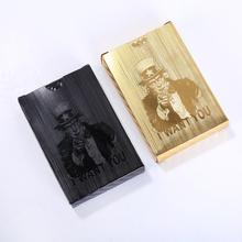 Waterproof Black Playing Cards Golden PVC Poker Collection Durable Creative Gift Plastic Card Diamond Game