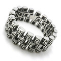 Mens boys 316L Stainless Steel Cool Silver Punk Gothic Biker Bracelet Motorcycle Links STYLE New Arrival