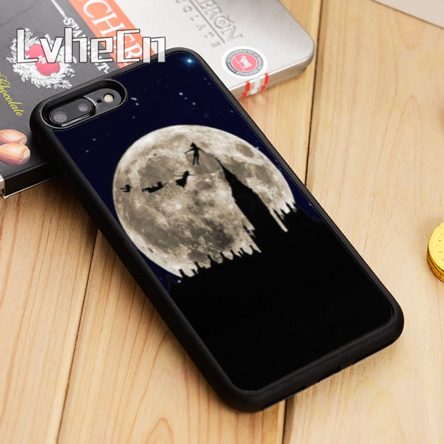 Detail Feedback Questions about LvheCn Peter Pan Flying to the Moon Phone  Case Cover For iPhone 5 5s SE 6 6s 7 8 10 X Samsung Galaxy S6 S7 edge S8 S9  ... 09af445dd52c