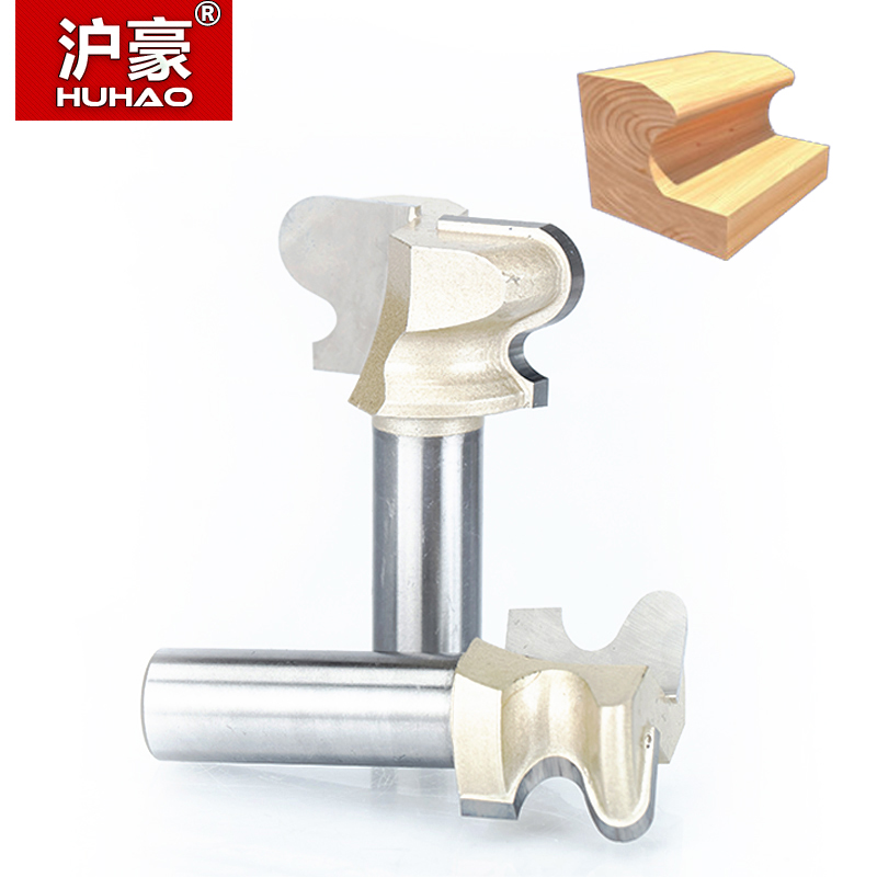 HUHAO 1pcs 1/2 Shank Router Bits for wood double finger bit Woodworking Tools two Flute endmill milling cutter wood cutting huhao 1pcs 1 2 1 4 shank classical router bits for wood tungsten carbide woodworking endmill tools classical mounlding bit