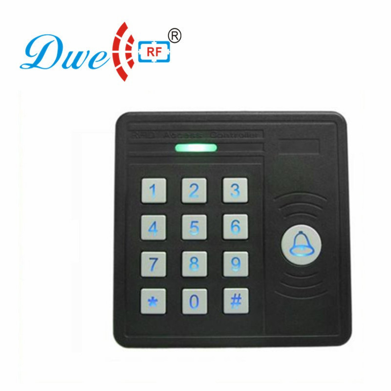 DWE CC RF RFID card reader  125khz emid wiegand 26  blue backlight waterproof  keypad reader for access control system 002J
