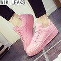 Wikileaks Stan Alta Bolinho Quente 2016 Novas Mulheres Da Moda Outono Plana Mulher Sapatos Respirável Skate Sapatos Casuais Estudante Sapatos Baratos