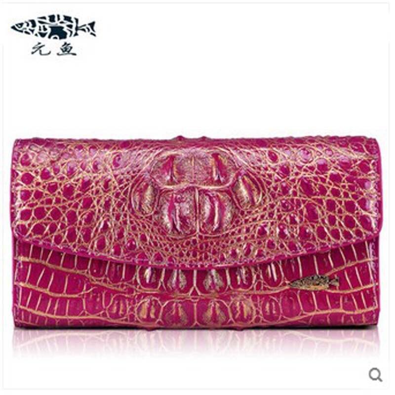 432751aa8274 Yuanyu Новый Леди Настоящее крокодил женщины клатчи из натуральной кожи  сумка длинные ручная сумка из кожи крокодила леди клатчи