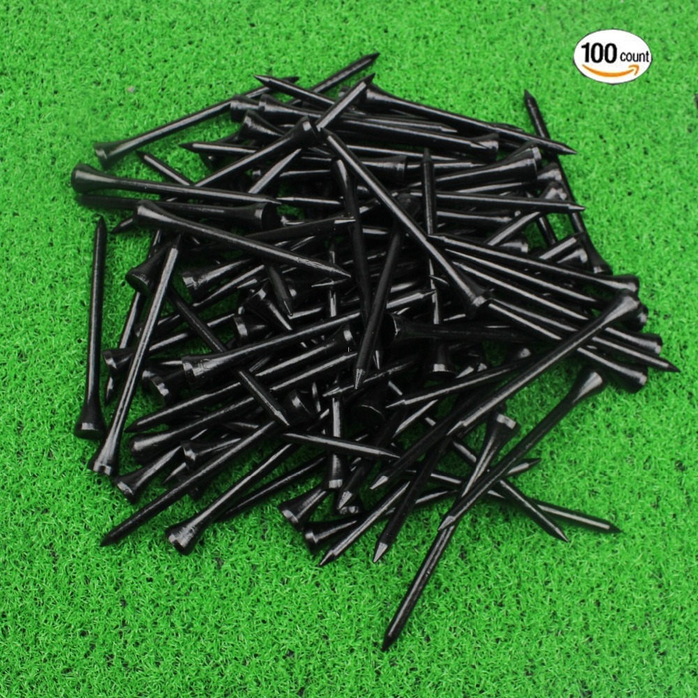Crestgolf 3-1/4 Inch Bamboo Golf Tees 83mm Professional Golf Bamboo Tees 100pcs/pack Several Colors For Your Choice
