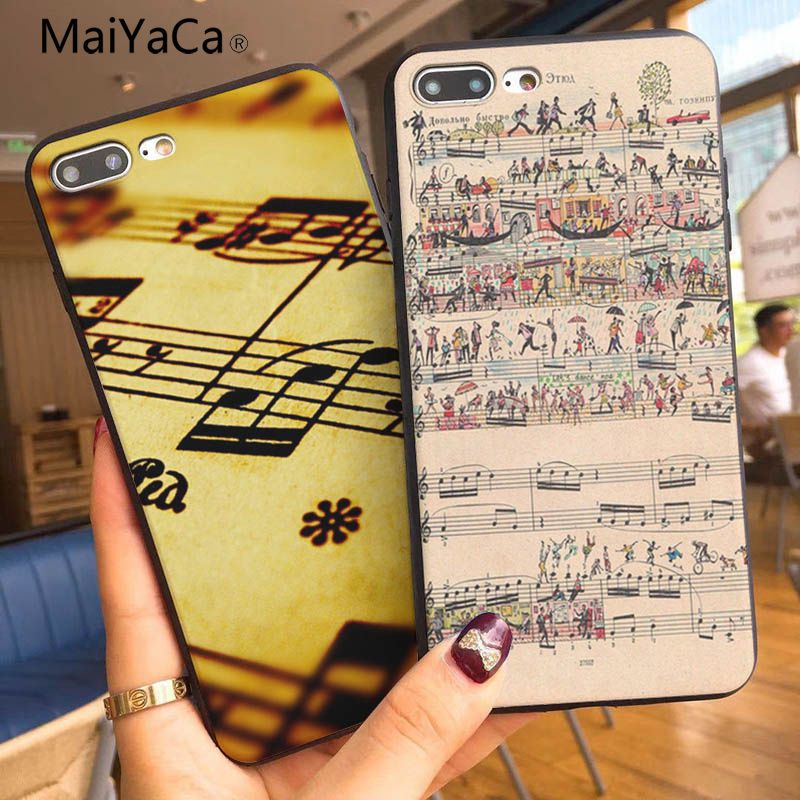 Cellphones & Telecommunications Phone Bags & Cases Tireless Maiyaca Retro Music Notations Novelty Fundas Phone Case Cover For Apple Iphone 5 5s Se X Xs Xr Xsmax And 6s 7 8 Phone Case