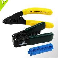 FTTH kits de herramientas de fibra óptica, pelado de fibra de alambre cubierto + herramienta de pelado de fibra óptica + Pista de longitud fija 3 en 1
