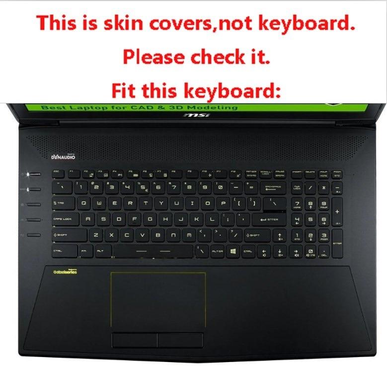 Cubierta del teclado del ordenador portátil Clear Tpu para MSI WT72 - Accesorios para laptop - foto 4
