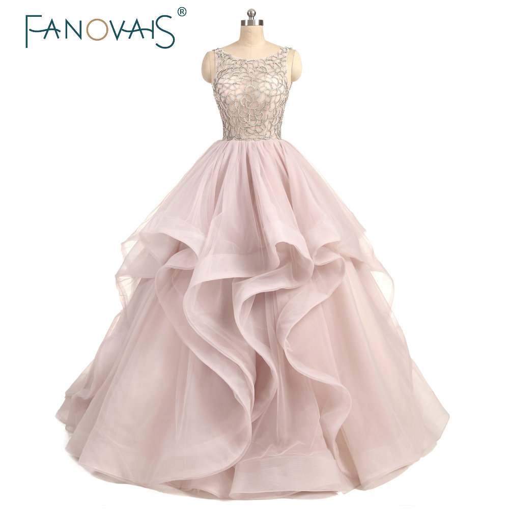 Dirty Pink font b Wedding b font Dresses Beaded Crystal Rhinestones Ball font b Gown b