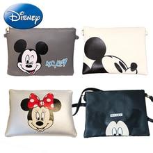 Disney New Women-Clutch Mummy Bag Fashion Cartoon Minnie Mickey Mouse Handbag Leather Travel Crossbody Girl Messenger Bags