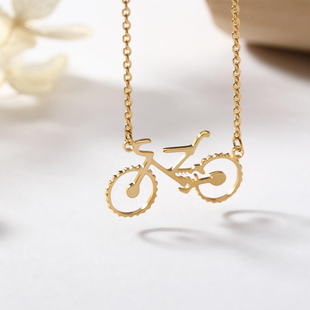 Bicicletta collane & pendenti Per Le Donne bike gioielli In Oro Catena In Acciaio Inox Necklece Maxi Colar ciondolo bici