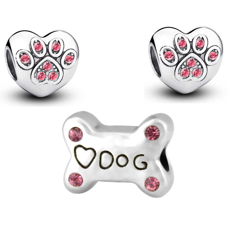 Silver Color I LOVE MY PET Dog Charms Bead Fit Pandora Beads Charm Bracelets&Bangles DIY Fashion Jewelry Making,SPB060
