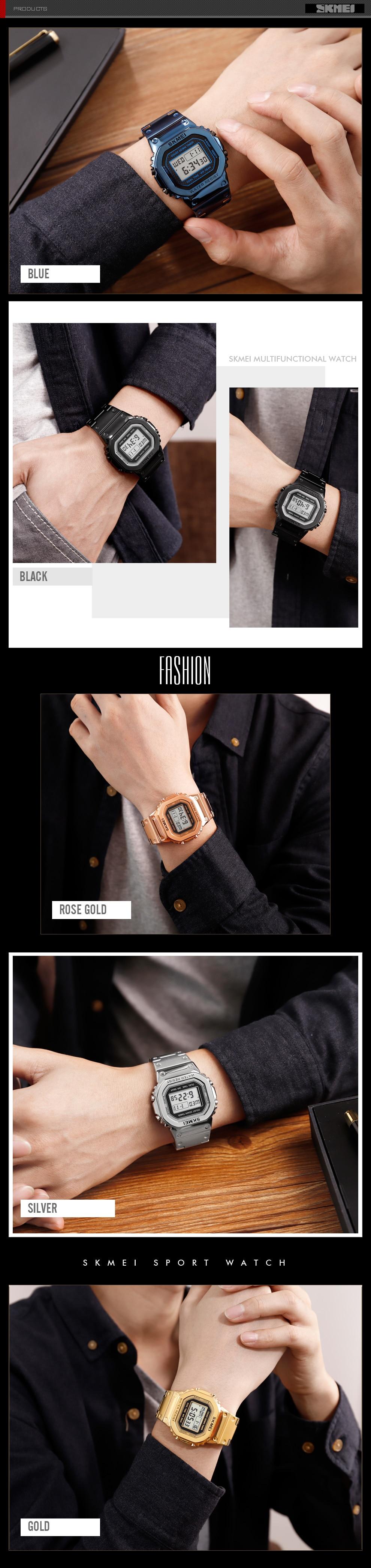 relógio digital para homem moda esporte ao