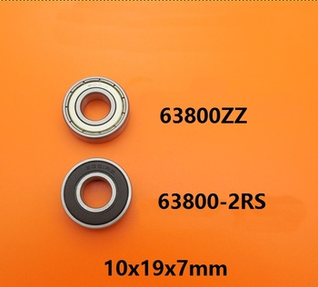 100pcs/lot 63800ZZ 63800RS 63800-2RS 63800 ZZ RS 2RS double shielded 10x19x7 mm Deep Groove Ball bearing 10*19*7mm 63800Z