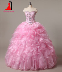 New sweetheart pink quinceanera dresses 2017 ball gown with beads crystal cheap quinceanera gowns long prom.jpg 250x250
