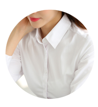 M white shirt female long-sleeved business dress blouse formalwear commuter fashion