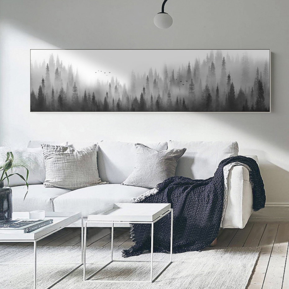 Nordic Landscape Forest Woodland Canvas Paintings Scandinavian Wall Art Pictures Poster Print For Living Room Home Office Decor