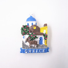 Fridge Magnet Souvenirs  Hand Painted 3D Resin Donkey Animals  Stickers Greece Countries Tourism Home Decoration Accessories Kid