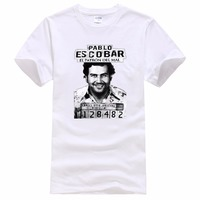 Tees Brand Clothing Funny T Shirt Short Pablo Escobar Mugshot Colombian Drug Lord Narcos Crew Neck