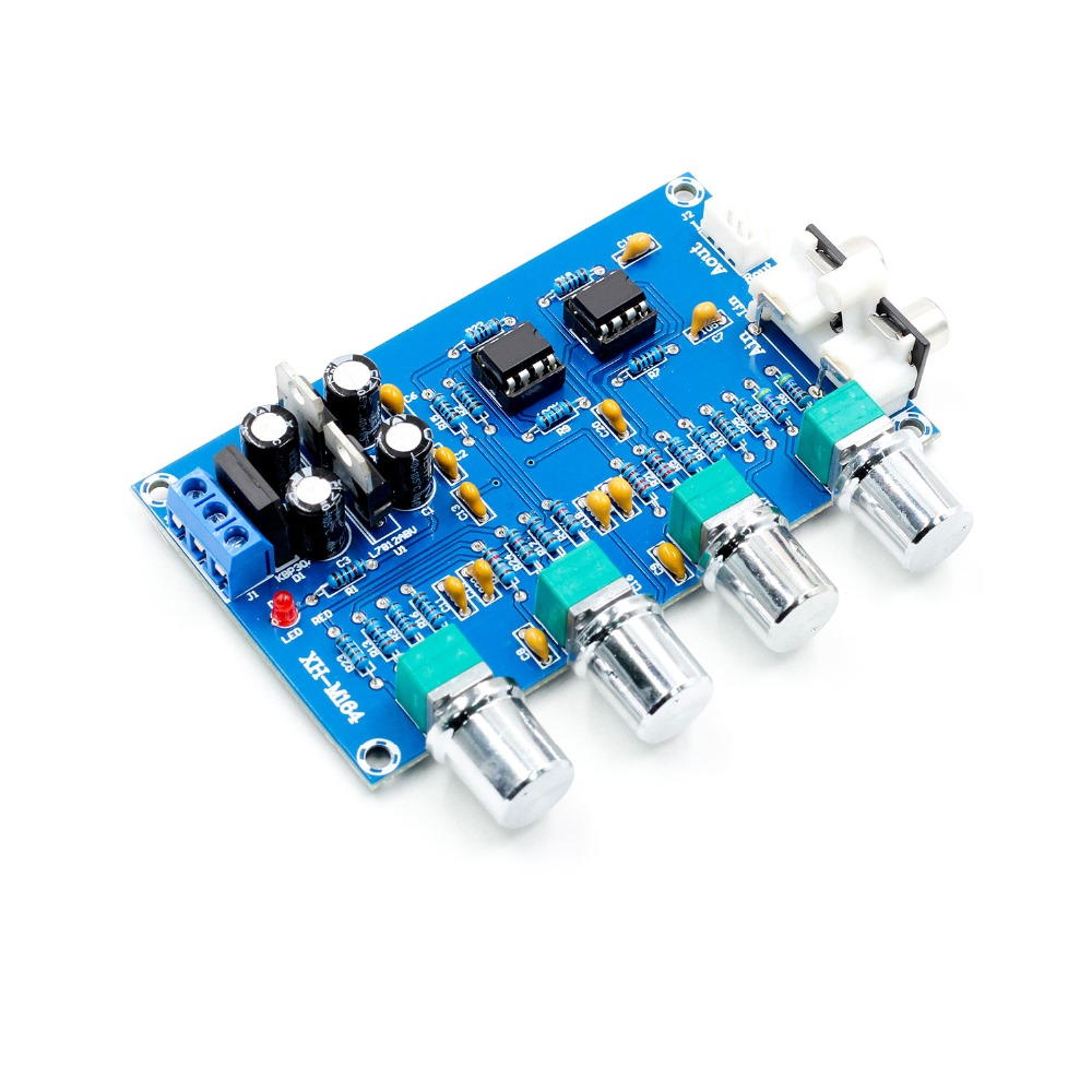 NE5532 Preamp Pre Amplifier Audio Adjustment Plate Double AC12V HIFI  Amplifier Preamplifier Volume Tone Control Board
