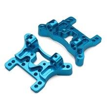 2 UNIDS Actualización de Metal Piezas de Tablero de la Placa Frontal y Amortiguador Trasero Set para Wltoys A949 A959 A969 A979 RC Coche Accesorios De Repuesto