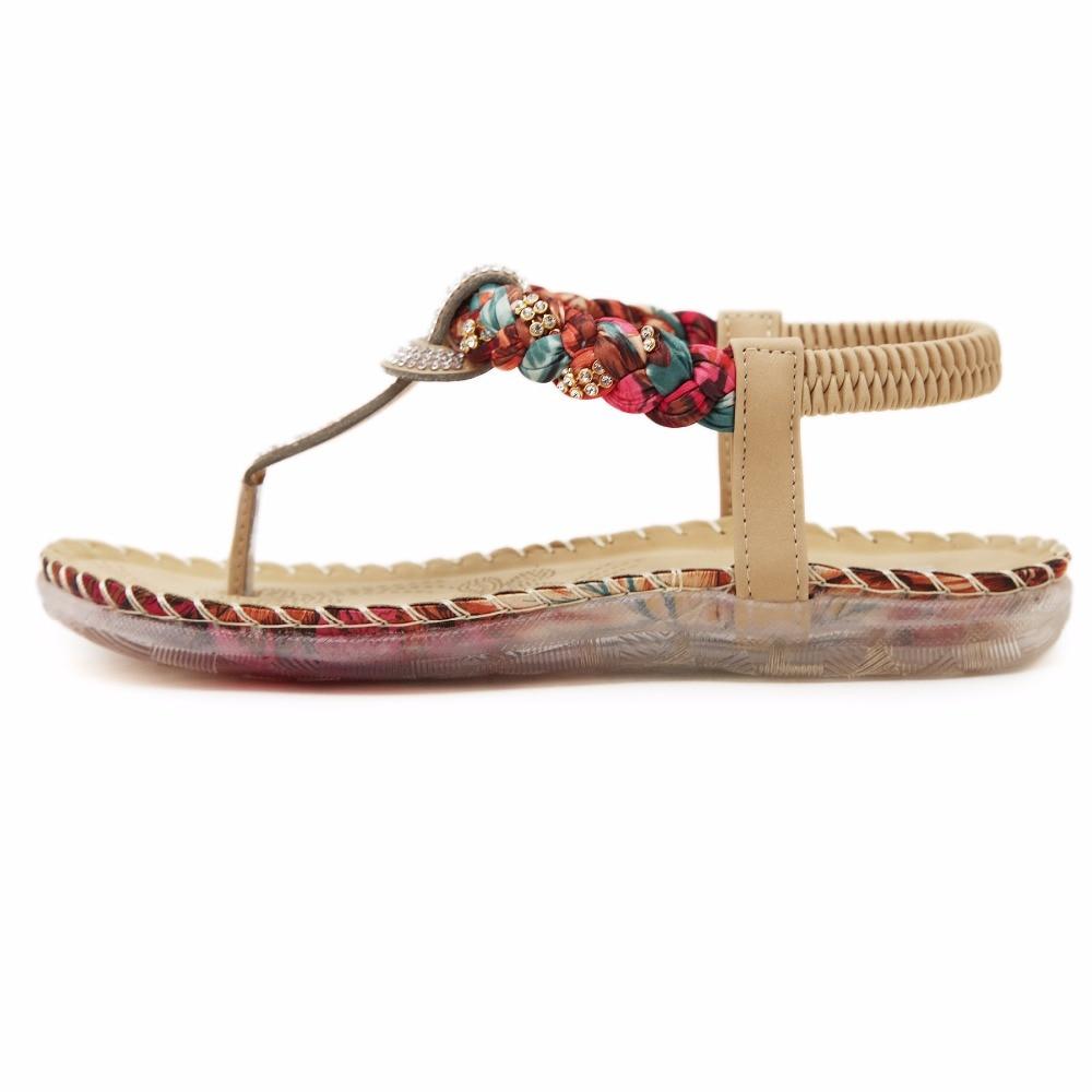 1fbb91d360 Melhor Apricot Preto Cor Mulheres Planas Com Sandálias Sapatos De Cristal  Elástico PU Sandálias Sapatos Casuais Frete Grátis Barato Online Preço.