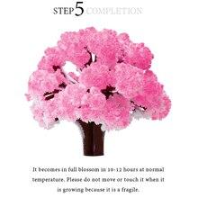 2019 50PCS 135mm Pink Big Magic Paper Sakura Tree Magically Japanese Growing Trees Kit Desktop Cherry Blossom Christmas Kids Toy
