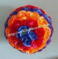 SPR 50cm mix blue & red & orange plastic Christmas artificial rose flower ball,weddings decoration