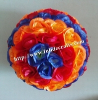 SPR 50cm mix blue & red & orange plastic Christmas artificial rose flower ball,weddings decoration